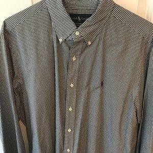 Ralph Lauren Polo Checkered Plaid Dress Shirt